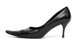 Black shoe sideview. On white Stock Image