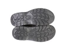 Black shoe sole. Royalty Free Stock Photo