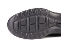 Black shoe sole. Stock Photography
