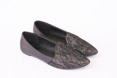 Black shoe. On white background royalty free stock photo