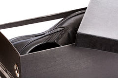 Black Shoebox Open Royalty Free Stock Images