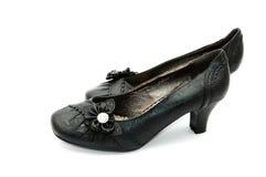 Black shoes. Black women shoes isolated on white background Royalty Free Stock Photos