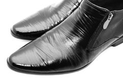 Black shoes. Black shiny man's shoes Royalty Free Stock Images