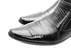 Black shoes. Black shiny man's shoes Stock Images