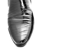 Black shoes. Black shiny man's shoes Stock Photo