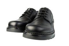 Black shoes. Isolated on the white background Stock Image