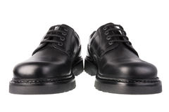 Black shoes. Isolated on the white background Royalty Free Stock Photography