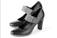 Black shoes Stock Photos