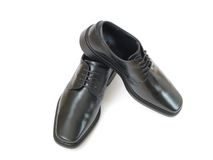 Black shoes. Royalty Free Stock Photo
