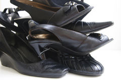 Black Shoes Stock Images