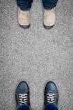 Two men on opposite sides royalty free stock photos