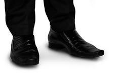Black shoes closeup Stock Photos