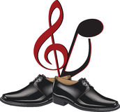 Black shoes dance Royalty Free Stock Images
