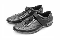 Black shoes isolated Stock Photo