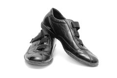 Black shoes isolated Royalty Free Stock Image