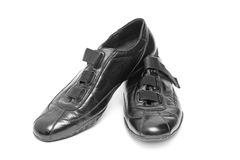 Black shoes isolated Stock Photography