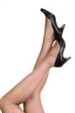 Black shoes isolated Royalty Free Stock Photo