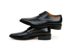 Black shoes isolated Royalty Free Stock Photography