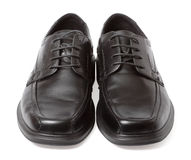Black shoes isolated on white Royalty Free Stock Images
