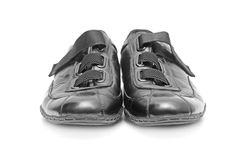 Black shoes isolated on white Royalty Free Stock Image