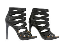 Black shoes. Isolated on white background Stock Photography