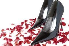 black shoes kvinnor Royaltyfri Foto