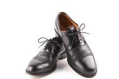 Black shoes-male Royalty Free Stock Images