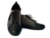 black shoes sporten Royaltyfria Bilder