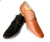 Black shoes versus Brown shoes Stock Image