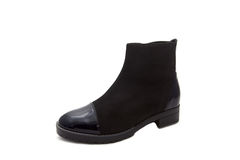 Black shoes woman Royalty Free Stock Photography
