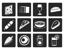 Black Shop, food and drink icons 2 Stock Photo