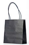 Black shopping bag. Royalty Free Stock Photo
