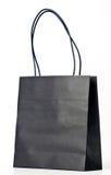 Black shopping bag. Royalty Free Stock Photo