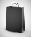 Black shopping bag Stock Image