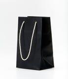 Black shopping bag. Stock Photos