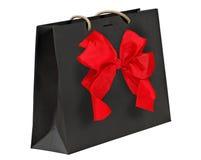 Black shopping bag. Royalty Free Stock Images