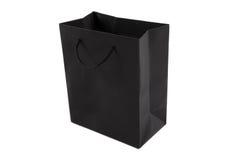 Black shopping bag Stock Photo