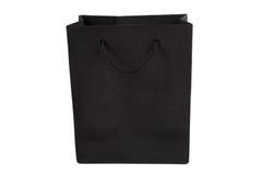 Black shopping bag Stock Photos