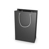 Black shopping bag isolated on white Stock Image