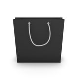Black shopping bag Royalty Free Stock Photography