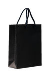 Black shopping bag. Royalty Free Stock Image