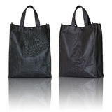 Black shopping bag Stock Photography