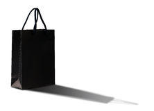 Black shopping bag. Stock Photo