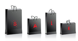 Black shopping bags Stock Image