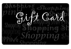 Black Shopping Card. Gift card for shopping drawn in Illustrator CS2 Stock Images