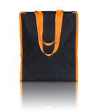 Black shopping fabric bag Royalty Free Stock Photography