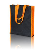 Black shopping fabric bag Stock Images