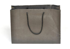 Black shopping paper bag Stock Image