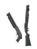 Black shotguns isolated Royalty Free Stock Image