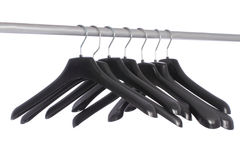 Black shoulders on the hanger Royalty Free Stock Photo
